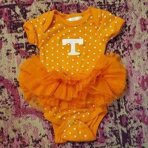 Orange Tenneesse 6 month tutu onesie